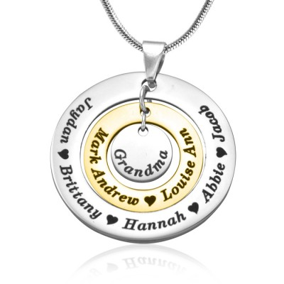 personalized Circles of Love Necklace - TWO TONE - Gold  Silver - Name My Jewelry ™