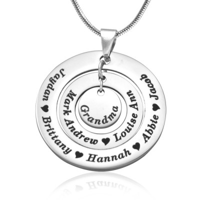 personalized Circles of Love Necklace - Silver - Name My Jewelry ™