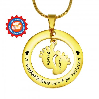 personalized Cant Be Replaced Necklace - Single Feet 18mm - 18ct Gold Plated - Name My Jewelry ™