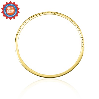 personalized Classic Bangle - 18ct Gold Plated - Name My Jewelry ™
