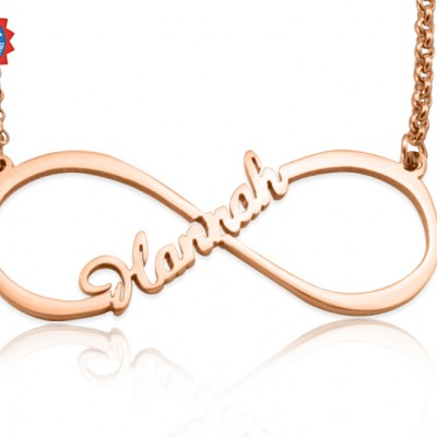 personalized Single Infinity Name Necklace - 18ct Rose Gold Plated - Name My Jewelry ™