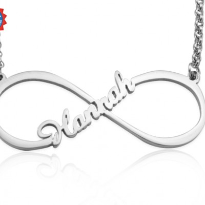 personalized Single Infinity Name Necklace - Sterling Silver - Name My Jewelry ™