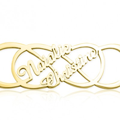 personalized Infinity X Infinity Name Necklace - 18ct Gold Plated - Name My Jewelry ™