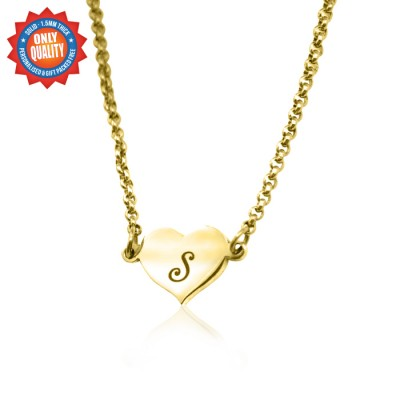 personalized Precious Heart - 18ct Gold Plated - Name My Jewelry ™
