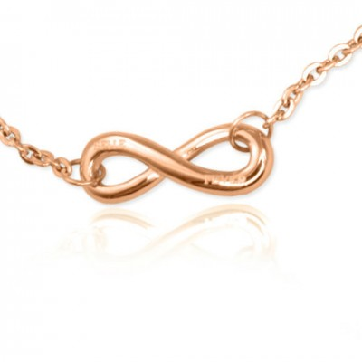 personalized Classic  Infinity Bracelet/Anklet - 18ct Rose Gold Plated - Name My Jewelry ™