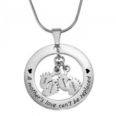 personalized Cant Be Replaced Necklace - Double Feet 12mm - Name My Jewelry ™