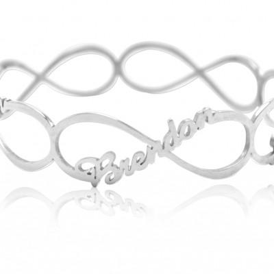 personalized Endless Single Infinity Bangle - Name My Jewelry ™