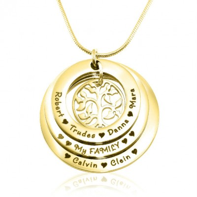 personalized Family Triple Love - 18ct Gold Plated - Name My Jewelry ™