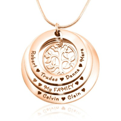 personalized Family Triple Love - 18ct Rose Gold Plated - Name My Jewelry ™