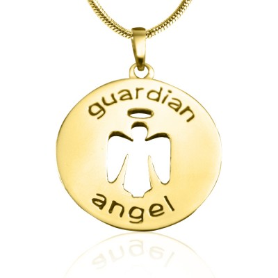 personalized Guardian Angel Necklace 1 - 18ct Gold Plated - Name My Jewelry ™