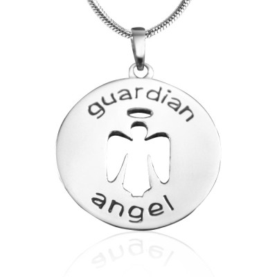 personalized Guardian Angel Necklace 1 - Sterling Silver - Name My Jewelry ™