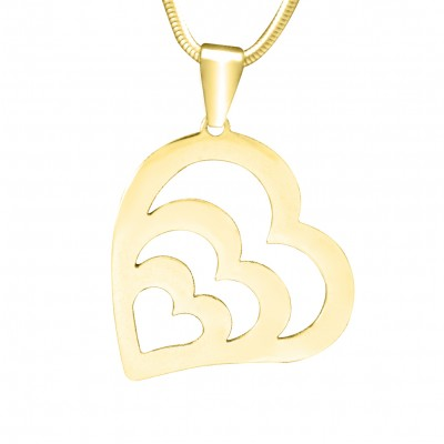 personalized Hearts of Love Necklace - 18ct Gold Plated - Name My Jewelry ™