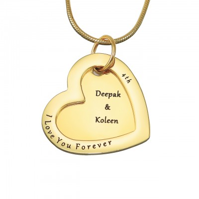 personalized Love Forever Necklace - 18ct Gold Plated - Name My Jewelry ™