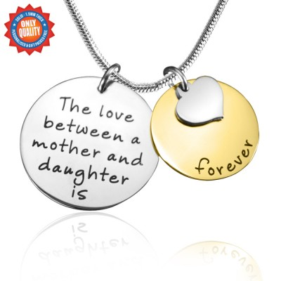 personalized Mother Forever Necklace - Two Tone - Gold  Silver - Name My Jewelry ™