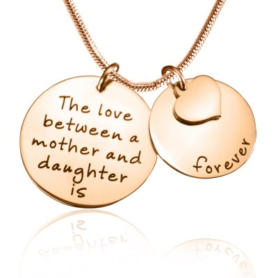 personalized Mother Forever Necklace - 18ct Rose Gold Plated - Name My Jewelry ™