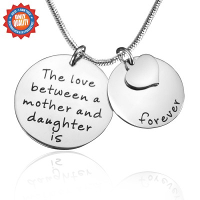 personalized Mother Forever Necklace - Silver - Name My Jewelry ™