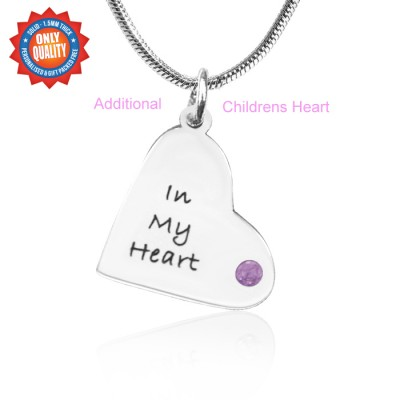 personalized Additional Childrens Heart Pendant - Name My Jewelry ™