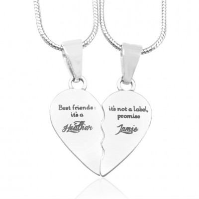 personalized My Bestie Two personalized Sterling Silver Necklaces - Name My Jewelry ™