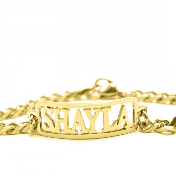 personalized Name Bracelet/Anklet - 18ct Gold Plated - Name My Jewelry ™