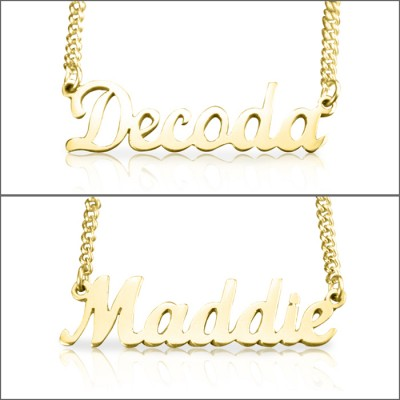 personalized Name Necklace - 18ct Gold Plated - Name My Jewelry ™