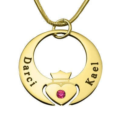 personalized Queen of My Heart Necklace - 18ct Gold Plated - Name My Jewelry ™