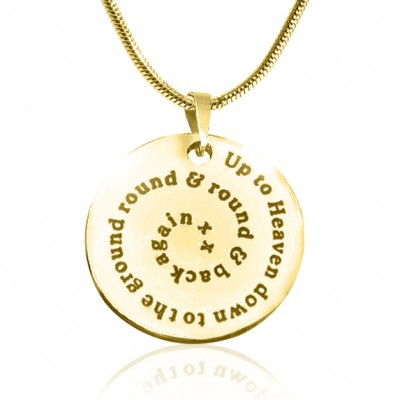 personalized Swirls of Time Disc Necklace - 18ct Gold Plated - Name My Jewelry ™