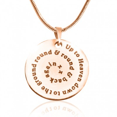 personalized Swirls of Time Disc Necklace - 18ct Rose Gold Plated - Name My Jewelry ™