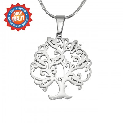 personalized Tree of My Life Necklace 7 - Sterling Silver - Name My Jewelry ™