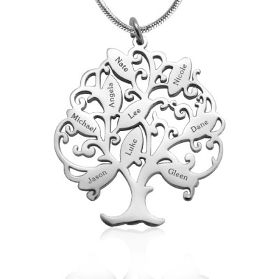 personalized Tree of My Life Necklace 9 - Sterling Silver - Name My Jewelry ™
