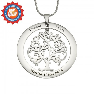 personalized Tree of My Life Washer 7 - Sterling Silver - Name My Jewelry ™