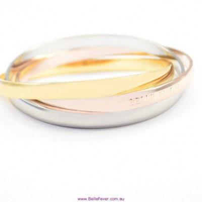 personalized Mother Daughter Three Tone Bangle Set - Name My Jewelry ™