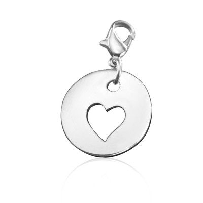 personalized Cut Out Heart Charm - Name My Jewelry ™
