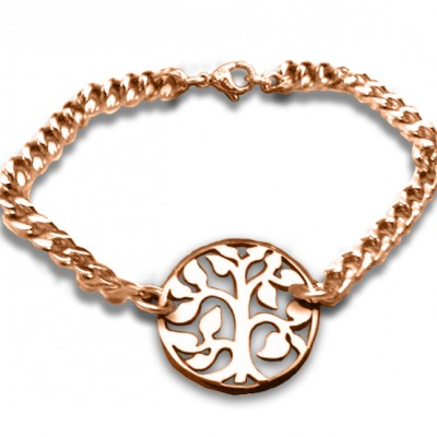 personalized Tree Bracelet/Anklet - 18ct Rose Gold Plated - Name My Jewelry ™