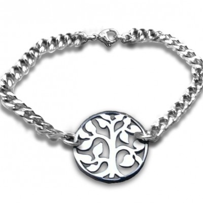 personalized Tree Bracelet - Sterling Silver - Name My Jewelry ™