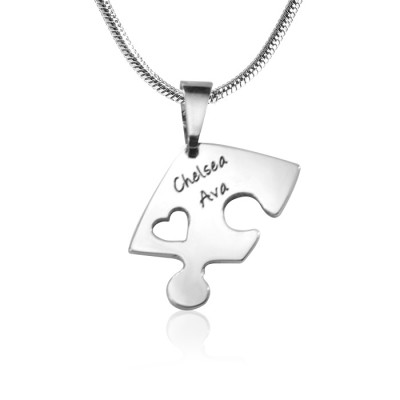 personalized Triple Heart Puzzle - Three personalized Necklaces - Name My Jewelry ™