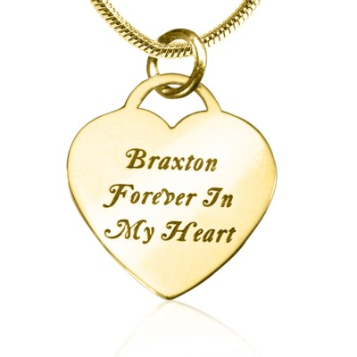 personalized Forever in My Heart Necklace - 18ct Gold Plated - Name My Jewelry ™
