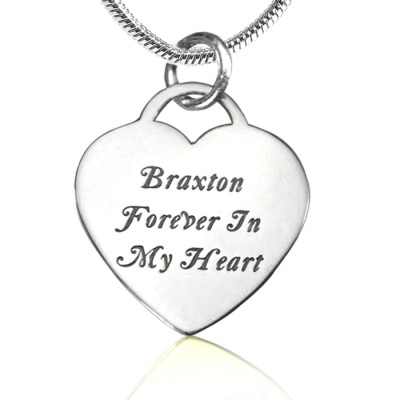 personalized Forever in My Heart Necklace - Sterling Silver - Name My Jewelry ™