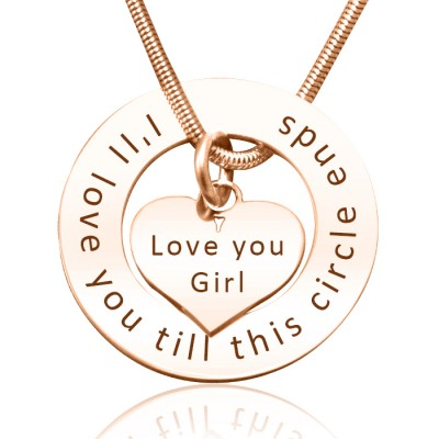 personalized Circle My Heart Necklace - 18ct Rose Gold Plated - Name My Jewelry ™