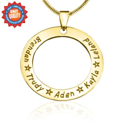 personalized Circle of Trust Necklace - 18ct Gold Plated - Name My Jewelry ™