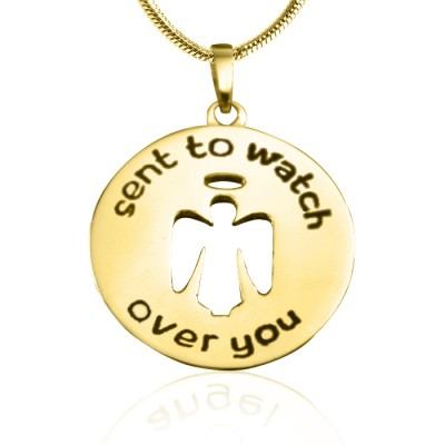 personalized Guardian Angel Necklace 2 - 18ct Gold Plated - Name My Jewelry ™