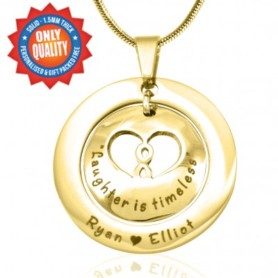 personalized Infinity Dome Necklace - 18ct Gold Plated - Name My Jewelry ™