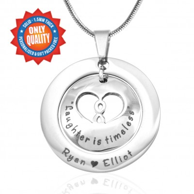 personalized Infinity Dome Necklace - Sterling Silver - Name My Jewelry ™