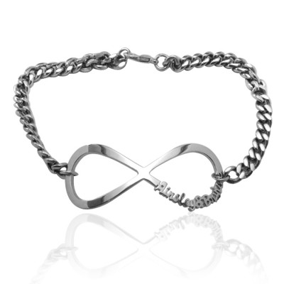 personalized Infinity Name Bracelet/Anklet - Sterling Silver - Name My Jewelry ™