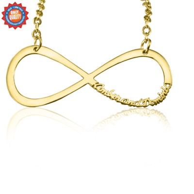 personalized Classic Infinity Name Necklace - 18ct Gold Plated - Name My Jewelry ™
