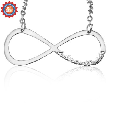 personalized Classic Infinity Name Necklace - Sterling Silver - Name My Jewelry ™