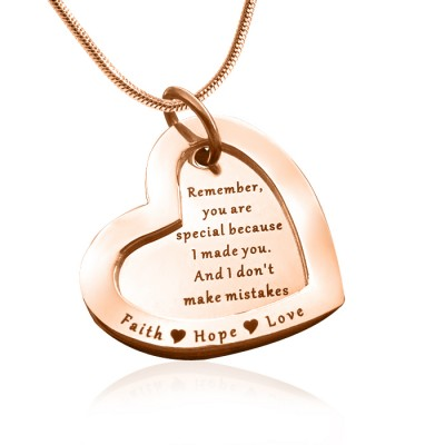 personalized Love Forever Necklace - 18ct Rose Gold Plated - Name My Jewelry ™