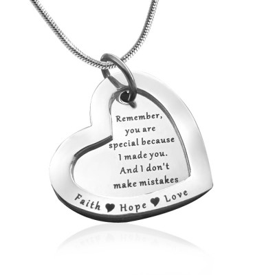 personalized Love Forever Necklace - sterling Silver - Name My Jewelry ™