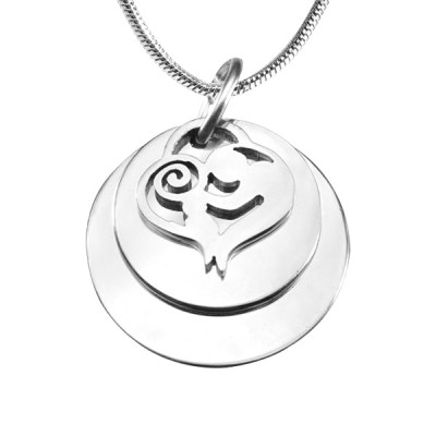 personalized Mother's Disc Double Necklace - Sterling Silver - Name My Jewelry ™