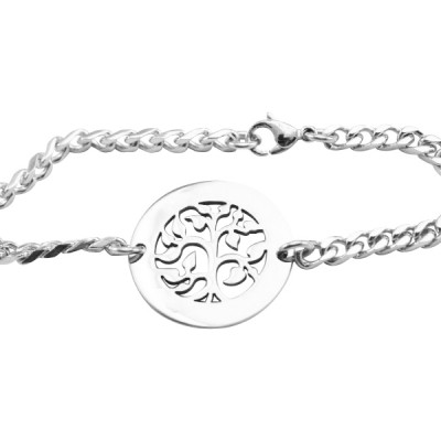personalized My Tree Bracelet/Anklet - Sterling Silver - Name My Jewelry ™