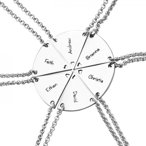 personalized Meet at the Heart Hexa - Six personalized Necklaces - Name My Jewelry ™